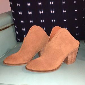 Never worn Brown booties! Open-heel and so cute!